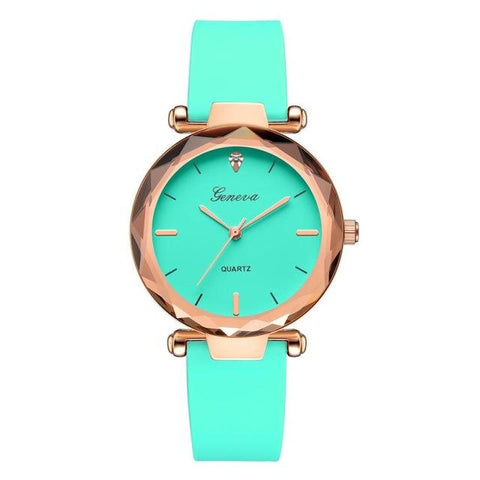 Fashion women's  watches Geneva silica analog band quartz watch