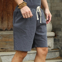 linen cotton plus big size  casual short