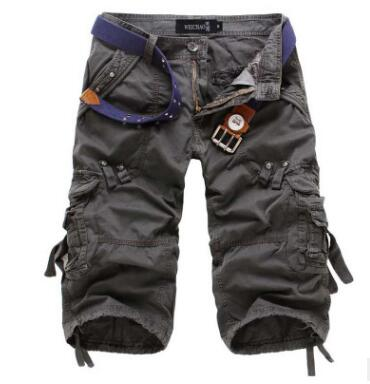 New Brand Summer Camouflage Loose Cargo Shorts
