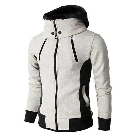 Men Hoodie Sweatshirts Solid Slim Fit