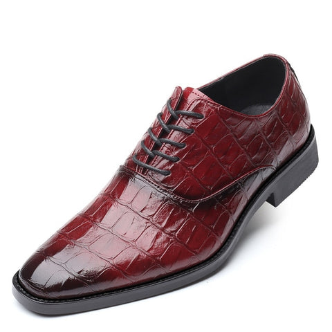 Luxury Men's Dress Leather Shoes Lace-up Business Casual Leather Shoes