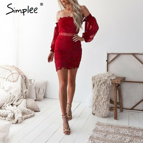 Vintage lace women dress