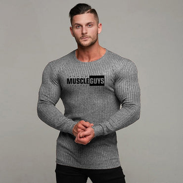 Fashion Casual Male Sweater O-Neck Slim Fit Knitting  Sweaters Pullovers