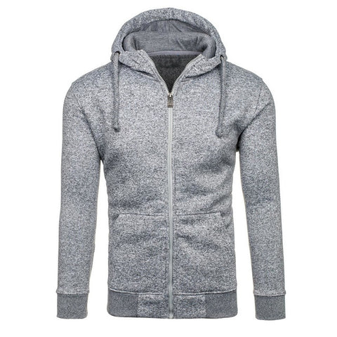 Cardigan Sweatshirts Long Sleeve Slim Fit Cotton Sportswear Hoodies