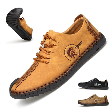 Casual Lace Up Shoes Men Leather Walking Boat Shoe Loafers Moccasins Flats Shoes