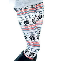 Warm Christmas Snowflakes Leggings