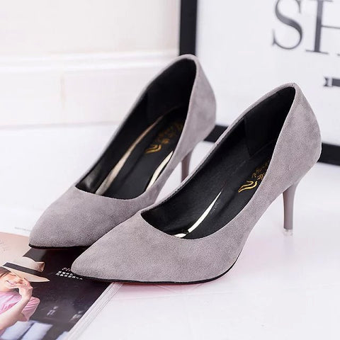 Hot Selling Women Shoes Pointed Toe Pumps Patent Leather High Heels