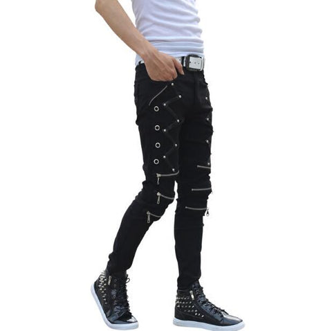 New Arrival Spring Fashion Mens Punk Skinny Pants