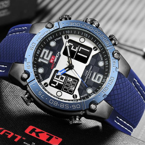 Luxury Brand Watches Sports Watches LED Digital Men Military Silicone Band Quartz Wrist Watch