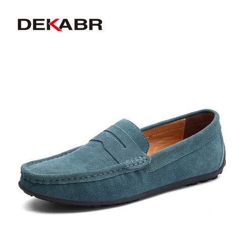 Fashion Summer Style Soft Moccasins Men Loafers High Quality Genuine Leather Shoes