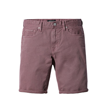 Summer New Purple Red Fashion Slim Fit High Quality Washed Shorts