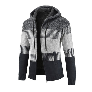 Stitching  Solid Thicken Outwear  Casual Hoodies