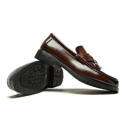 Dress Shoes Handmade Brogue Style Party Leather Wedding Shoes Men Flats Leather Oxfords Formal Shoes