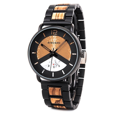New Men Watch Luxury Stylish Wooden Timepieces Chronograph Military Quartz Watches