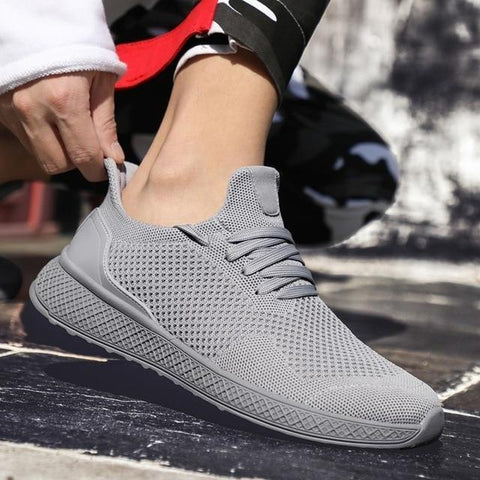 Pure color s mesh  comfortable lace-up