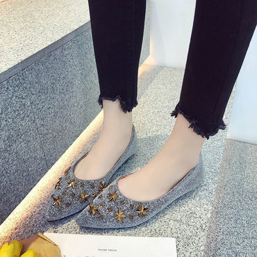 Casual pointed toe Shallow  Single Flat Shoes
