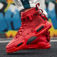 Men Fashion Casual Shoes Sneakers Spring High Top Trend Man Shoes Brand Comfortable Breathable Waterproof Walking Shoes