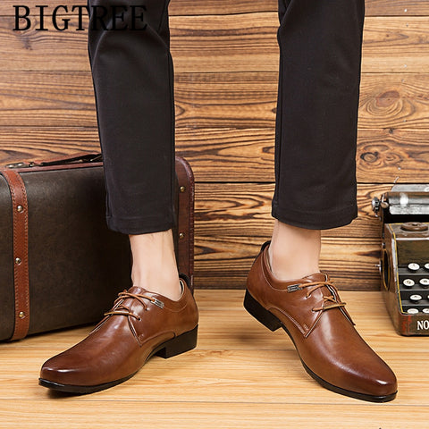 classic shoes mens business shoes leather luxury dress shoes