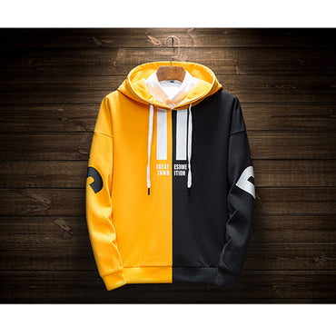 Hot Two-color color matching Sweatshirts  High Quality  fashion  hoodies