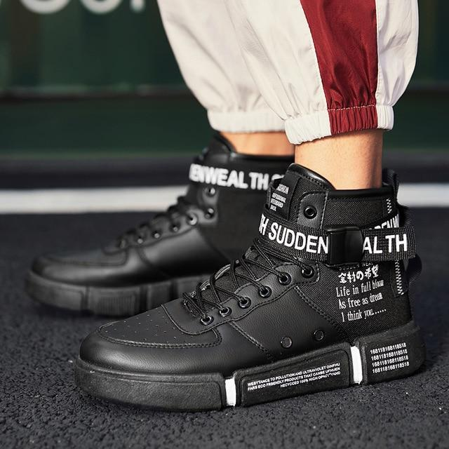 c29ada1e7 Men's High Top Fashion Sneakers Trend Hot Sale Comfortable Man Casual Shoes