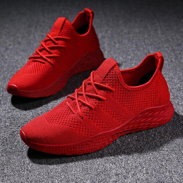 Fashion Casual Shoes Men Sneakers Flyknit Brand   Mesh Loafers