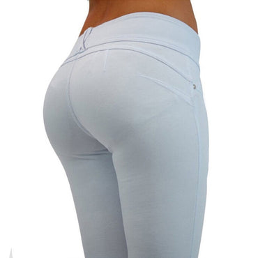 Honey Peach push up Hip Stretch Skinny Leg Casual Solid Butt Lifting Jeans