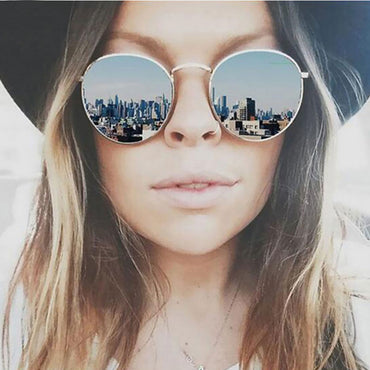 Fashion Colorful Round Sunglasses Women Luxury Metal Sunglasses S