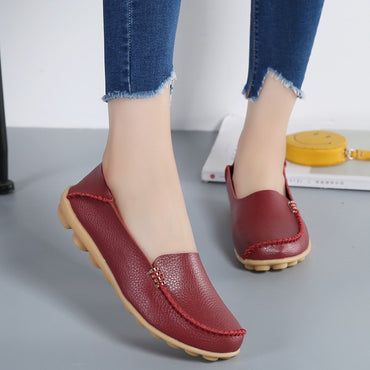 soft leather Loafers Flat Shoes