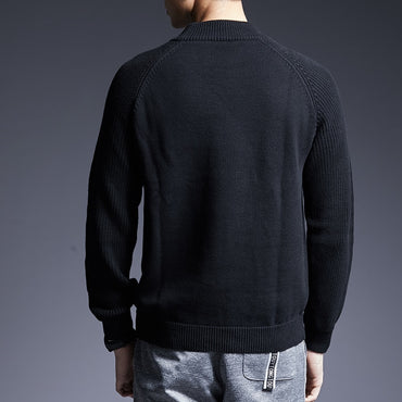 New Fashion Brand Sweater Pullovers Turtleneck Slim Fit Jumpers Knitwear Sweaters