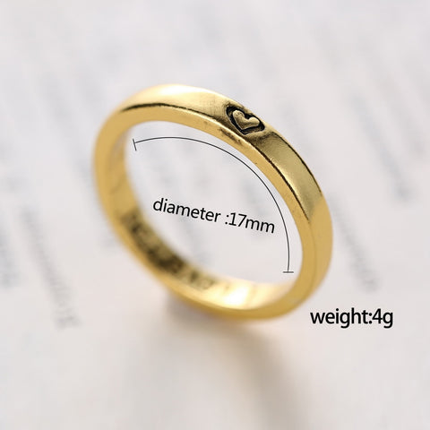Jewelry Gold Silver color stainless steel Ring