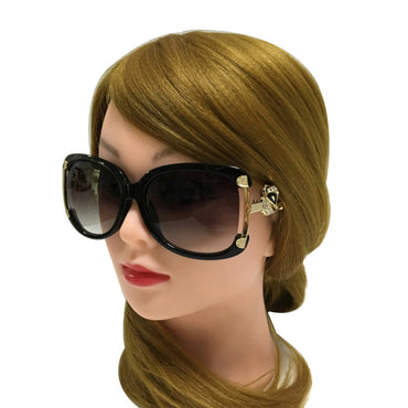 Alloy Frame Gold Fox Decoration Sun Glasses