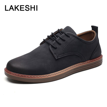 Men Shoes Casual  Comfortable Loafers Fashion Lace-up Quality PU Leather Shoes