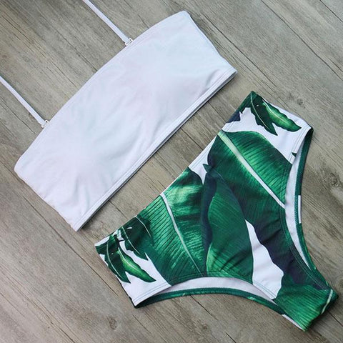 Bandage High Waist Bikini Set Push Up Swimwear
