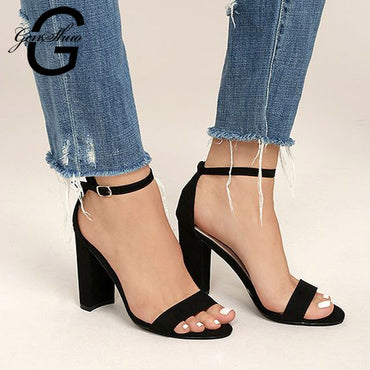 Open Toe Chunky High Heels Party Dress Sandals