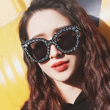 Original Brand Celebrity Oversized Square Sunglasses Women