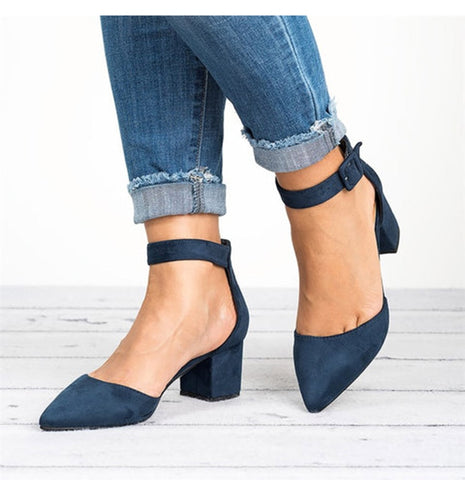 Low Heels Sandals Ankle Strap Shoes  Casual Sandals