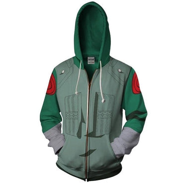 Costume Legion Clothing Rock Lee 3D printed Zipper Hoodies