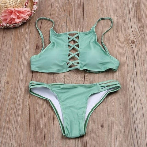 Sexy Hot Sale Women's Push-up Set Hollow Out Bandage Bikini