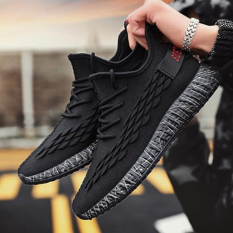 Breathable Mens Shoes Casual Outdoor Lace Up Sneakers