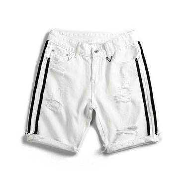 Summer Fashion New Men's Casual White Jean Shorts