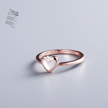 New Fashion Rose Gold Color Heart Shaped  Ring
