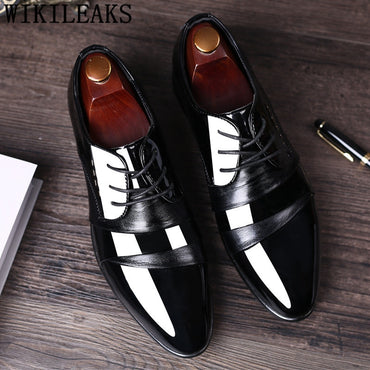 leather office elegant  oxford shoes