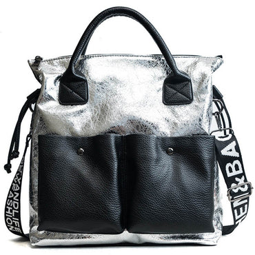 Capacity  Shopping Bag Double Pocket Handbags