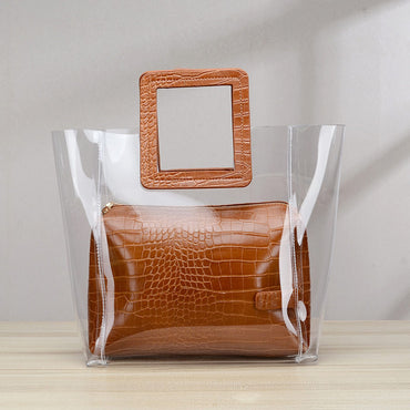 Composite Bags Transparent Handbags