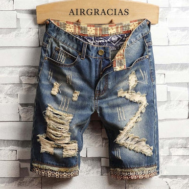 Ripped Hole Jeans Brand Clothing Cotton Short