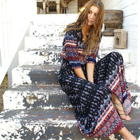Bohemian Tunic Floral Party Beach Long Maxi Dress