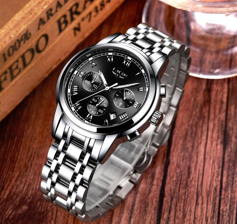 Luxury Brand LIGE Chronograph Men Sports Watches