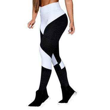 High Waist Yoga Geometric Lines Leggings