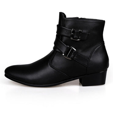 pointed toe height increase ankle boots
