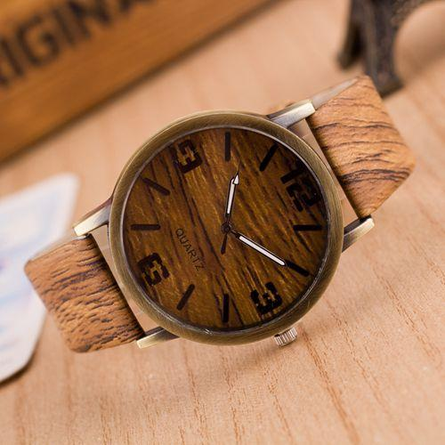 Imitation Wood Watches Simple Quartz Watches